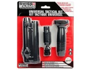 Swiss Arms Optics Accessory Kit, Includes Red Laser, Tactical Flashlight & Foregrip