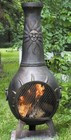 The Blue Rooster Company ALCH029GA Sun Stack Chiminea Outdoor Fireplace in Gold Accent