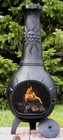 The Blue Rooster Company ALCH029CH Sun Stack Chiminea Outdoor Fireplace in Charcoal