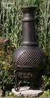 The Blue Rooster Company ALCH016GA Gatsby Chiminea Outdoor Fireplace in Gold Accent