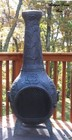 The Blue Rooster Company ALCH012AG Rose Chiminea Outdoor Fireplace in Antique Green