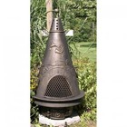 The Blue Rooster Company ALCH009GA Garden Style Chiminea in Gold Accent