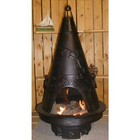 The Blue Rooster Company ALCH009CHGKLP Garden Chiminea Outdoor Fireplace With Gas  Cast Iron Bottom Grate  Carry Handles  Removable Top  Non-Rusting Cast Aluminum Body & In Charcoal - Liquid Propane