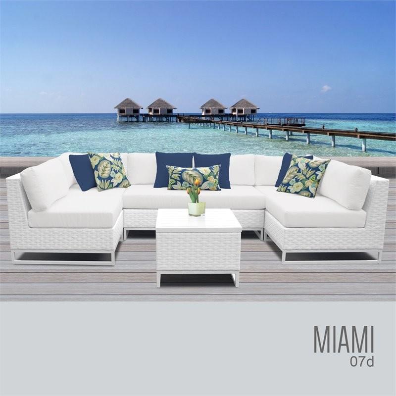 Clearance Furniture Miami: TK Classics MIAMI-07d Miami 7 Piece Outdoor Wicker Patio