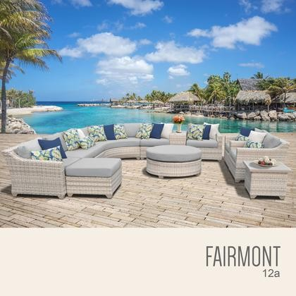Fairmont Patio Furniture.Tk Classics Fairmont 12a Grey Fairmont 12 Piece Outdoor Wicker Patio Furniture Set 12a With 2 Covers Beige And Grey