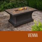 TK Classics FP-VIENNA-KIT Vienna - 32 x 52 Inch Rectangular Slate Top Gas Fire Pit Table