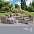 TK Classics FLORENCE-10b-GREY Florence 10 Piece Outdoor Wicker Patio Furniture Set 10b