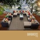TK Classics BARBADOS-17a Barbados 17 Piece Outdoor Wicker Patio Furniture Set 17a