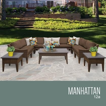 Good TK Classics MANHATTAN 12a COCOA Manhattan 12 Piece Outdoor Wicker Patio  Furniture Set 12a