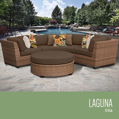 Tk Clics Laguna 04a Cocoa 4 Piece Outdoor Wicker Patio Furniture Set