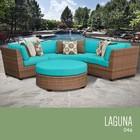 TK Classics LAGUNA-04a-ARUBA Laguna 4 Piece Outdoor Wicker Patio Furniture Set 04a
