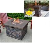 Tortuga YOS-FIRE Yosemite 40 000BTU Propane Fire Pit II with FREE/BONUS Matching Table Top Version!