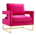 TOV Furniture TOV-A120 Avery Pink Velvet Chair
