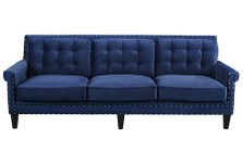 TOV Furniture TOV-S77 Jonathan Navy Velvet Sofa