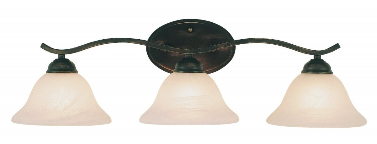 Oil Rubbed Bronze Three Globe Bathroom Vanity Light Bar: Trans Globe 2827 ROB 3 Light Bath Bar In Oil Rubbed Bronze
