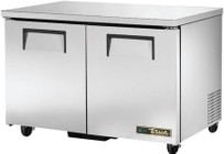 """True TUC-48-HC 48"""" Solid Door Undercounter Refrigerator with Hydrocarbon Refrigerant  in Stainless Steel"""