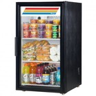 True GDM-6-LD Counter-Top Refrigerator Merchandiser with 6 Cu. Ft. Capacity  LED Lighting  and Thermal Insulated Glass Swing-Door in Black