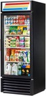 True GDM-26-HC-LD Refrigerator Merchandiser with 26 Cu. Ft. Capacity  Hydro Carbon Refrigerant  LED Lighting  and Thermal Insulated Glass Swing-Door in Black