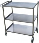 "Turbo Air TBUS2133 21"" X 33"" X 33.5"" 304 Stainless Steel Bus Cart with Three Spacious Shelves and 4 Rubber Casters"