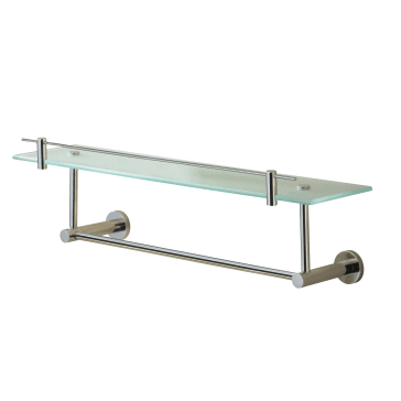 Valsan Porto 675651cr 19 3 4 Quot Glass Shelf With Under Rail