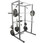 Valor Athletics BD-7 Power Rack with Lat Pull in Pewter