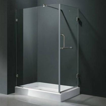 Vigo Vg6012bncl36wl 36 X 48 Corner Shower Enclosure With Frameless Design Acrylic Fibergl Base