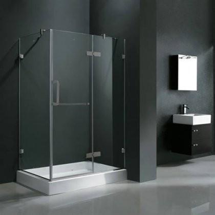 Vigo Vg6011bncl40wr 32 X 40 Corner Shower Enclosure With Frameless Design Acrylic Fiberglass Base