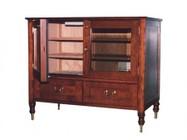 Vinotemp VT-ANTIQUECAB Antique Cigar Cabinet With Slotted Adjustable Shelves  Lockset Included & Drawer For Bulk Cigar Storage