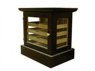 Vinotemp CM-CIGAR CHEST Cigar Mate Hardwood Cigar Chest with Glass Windows and Multiple Trays for Easy Storage