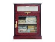 Vinotemp CMCIGFT01 Cigar Mate Desktop Humidor with 450 Cigar Capacity  Humidifier  Hygrometer  Glass Door  and Door Lock  in Cherry Finish