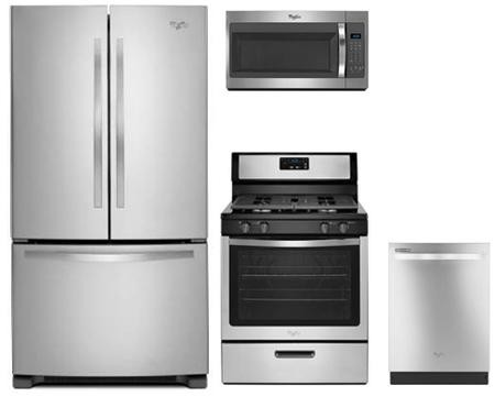 4 piece stainless steel kitchen package with wrf535smbm 36 french whirlpool 4 piece stainless steel kitchen package with wrf535smbm 36 french door refrigerator wfg320m0bs 30 gas range workwithnaturefo