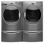 Whirlpool Chrome Shadow Front Load Laundry Pair with WFW92HEFC 27