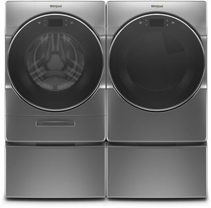 Whirlpool Chrome Front Load Laundry Pair With Wfw9620hc 27