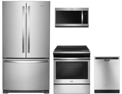 Whirlpool 4 Piece Kitchen Package With Wrf535swhz 36 Counter Depth