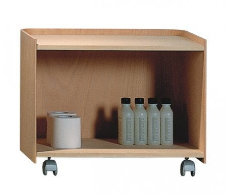 Whitehaus AECB55N Aeri Large Wood Cart With Two Shelves And Casters