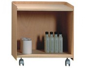 Whitehaus AECB38T Aeri Wood Cart With Two Shelves And Casters