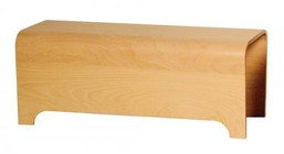 Whitehaus AEB100T Aeri Freestanding Ebony Wood Bench