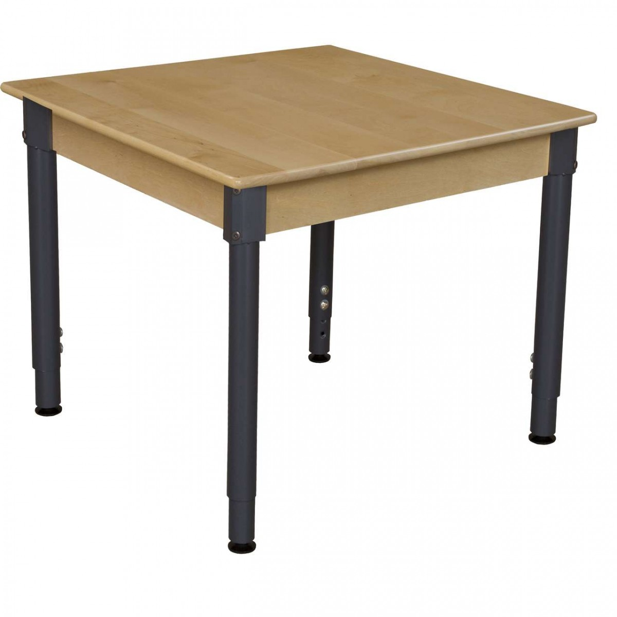 """Wood Designs 30"""" Square Hardwood Table With Adjustable"""