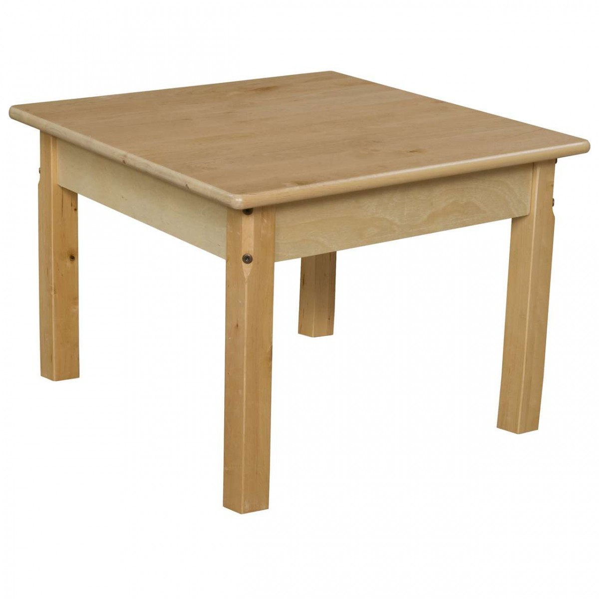 """Wood Designs 24"""" Square Hardwood Table With 16"""" Legs"""