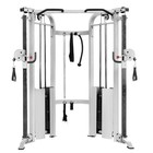 XMark Fitness XM-7626-White Functional Trainer Cable Machine with Dual 200 lbs Weight Stacks in White