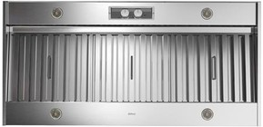 """Zephyr AK9846AS 48"""" Professional Series Spruce Outdoor Hood Insert with 1200 CFM Blower  Halogen Lighting  and Metallic Knob Controls  in Stainless Steel"""