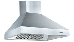 """Z Line ZL697-304-60 60"""" Wall Mounted Outdoor Range Hood with 1200 CFM Motor  4 Speed Levels  4 Directional Lights and Control Panel with LCD in Brushed Stainless Steel"""