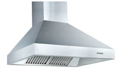 """Z Line ZL697-304-42 42"""" Wall Mounted Outdoor Range Hood with 1200 CFM Motor  4 Speed Levels  3 Directional Lights and Control Panel with LCD in Brushed Stainless Steel"""